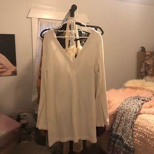 Free People white tunic dress